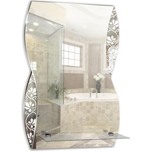 Зеркало Mixline Аква 395х600 с полкой, пескоструйный рисунок (4620001983902)
