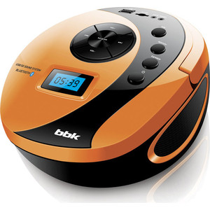 Магнитола BBK BS10BT черный/оранжевый аудиомагнитола bbk bs10bt черный оранжевый
