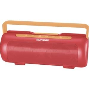 лучшая цена Портативная колонка TELEFUNKEN TF-PS1231B красный/оранжевый