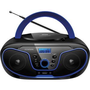 Магнитола Hyundai H-PCD160 черный/синий цена и фото