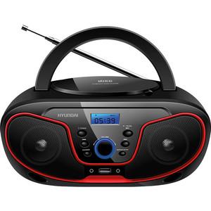 Магнитола Hyundai H-PCD180 черный/красный цена и фото