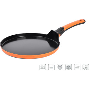 Сковорода для блинов d 26 см Oursson Pallete Anionic Ceramic (PF2600C/OR)