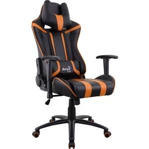 купить Кресло для геймера Aerocool AC120 AIR-BO черно-оранжевое с перфорацией по цене 15489.5 рублей