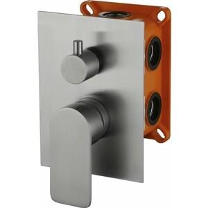 Смеситель для ванны BelBagno Nova встраиваемый с переключателем, нержавеющая сталь (NOV-SDM-IN)