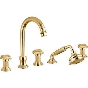 Смеситель на борт ванны Cezares Olimp золото, ручки золото (OLIMP-BVD-03/24-O) цена и фото
