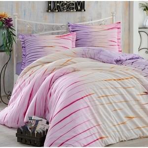 Комплект постельного белья Hobby home collection Семейный, поплин Batik Kirik лиловый (1501001602) цена
