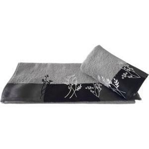 Полотенце махровое Hobby home collection Flora светло-серый 50x90 (1501000770)