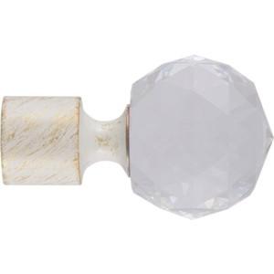 Наконечники 2 штуки DDA 16 мм Орион Белое золото (16.01.34.105 )