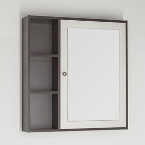 Зеркальный шкаф Style line Кантри 75 венге, лен белый (2000949041032)
