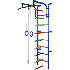 Детский спортивный комплекс Формула здоровья Орлёнок-1А ПЛЮС синий/радуга цена