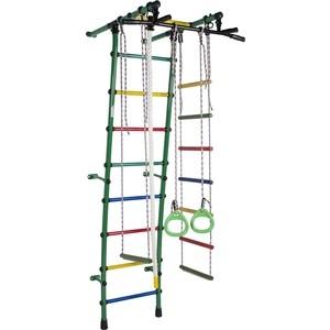 Детский спортивный комплекс Формула здоровья Стелла-1С Плюс зелёный/радуга детский спортивный комплекс формула здоровья атлант 1с плюс салатовый радуга