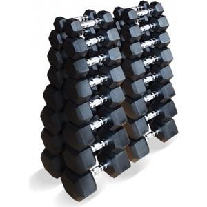 Набор гантелей Original Fit.Tools гексагональных 16 пар от 1 до 25 кг