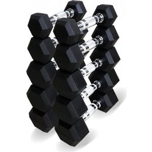 Набор гантелей Original Fit.Tools гексагональных 5 пар от 1 до 5 кг гантель hawk виниловая hkdb115 n 1 5 синий 1 5 кг