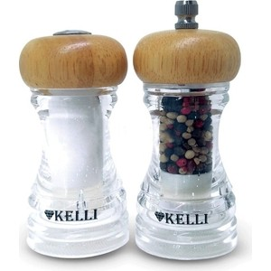 Набор мельница для перца и солонка Kelli (KL-11107)
