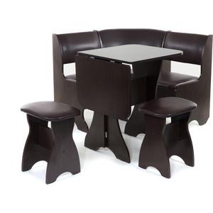 Набор мебели для кухни Бител Тюльпан мини - однотонный (венге, Борнео умбер, венге)
