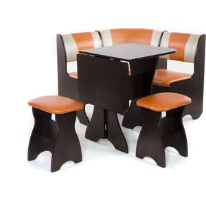 Набор мебели для кухни Бител Тюльпан мини - комби (венге, с-120 + с-101, венге) цена и фото