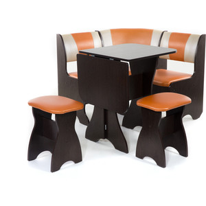 Набор мебели для кухни Бител Тюльпан мини - комби (венге, с-120 + с-101, венге)