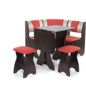 Набор мебели для кухни Бител Тюльпан мини - комби (венге, терра эффект-112 + с-101, венге) цена и фото
