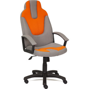 Кресло TetChair NEO3 ткань серый/оранжевый С27/С23
