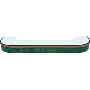 Карниз потолочный пластиковый DDA Поворот Греция двухрядный зеленый 3.4