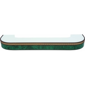 Карниз потолочный пластиковый DDA Поворот Греция двухрядный зеленый 3.6