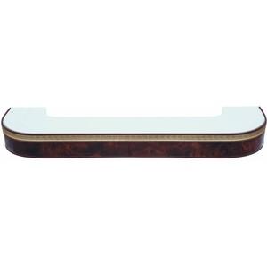 Карниз потолочный пластиковый DDA Поворот Греция двухрядный коричневый 1.8