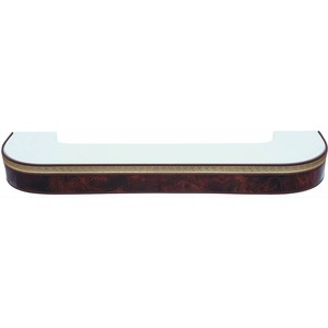 Карниз потолочный пластиковый DDA Поворот Греция двухрядный коричневый 3.2 карниз потолочный пластиковый dda поворот греция двухрядный коричневый 4 0