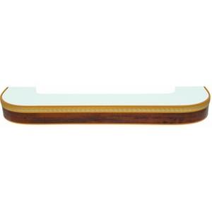 Карниз потолочный пластиковый DDA Поворот Греция двухрядный орех бежевый 3.6 карниз потолочный пластиковый dda поворот греция двухрядный вишня 4 0