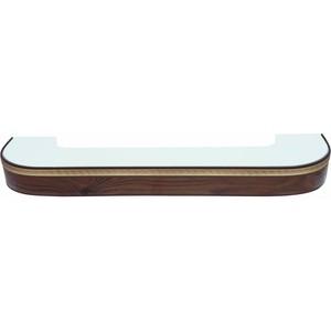 Карниз потолочный пластиковый DDA Поворот Греция двухрядный орех тёмный 3.2 карниз потолочный пластиковый dda поворот греция двухрядный орех тёмный 2 8