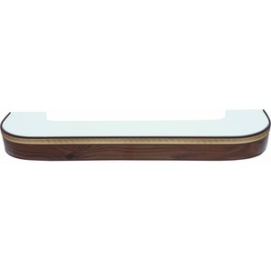 Карниз потолочный пластиковый DDA Поворот Греция двухрядный орех тёмный 3.8 карниз потолочный пластиковый dda поворот греция двухрядный орех тёмный 2 8