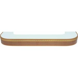 Карниз потолочный пластиковый DDA Поворот Греция двухрядный песок 2.0