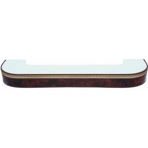Карниз потолочный пластиковый DDA Поворот Греция трехрядный коричневый 3.2 карниз потолочный пластиковый dda поворот греция трехрядный коричневый 2 0