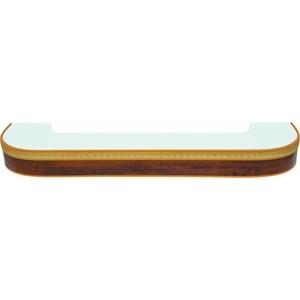Карниз потолочный пластиковый DDA Поворот Греция трехрядный орех бежевый 2.2 карниз потолочный пластиковый dda прямой греция трехрядный орех тёмный 3 6