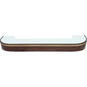 Карниз потолочный пластиковый DDA Поворот Греция трехрядный орех тёмный 1.6 карниз потолочный пластиковый dda прямой греция трехрядный орех тёмный 3 6