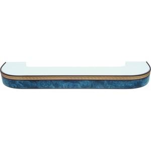 Карниз потолочный пластиковый DDA Поворот Греция трехрядный синий 1.6