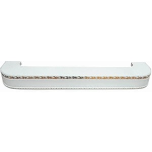 Карниз потолочный пластиковый DDA Поворот Гранд двухрядный белый 2.0 карниз потолочный пластиковый dda поворот винтаж двухрядный белый 3 2