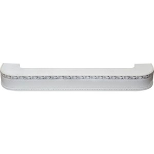 Карниз потолочный пластиковый DDA Поворот Гранд двухрядный белый хром 2.0 карниз потолочный пластиковый dda поворот гранд двухрядный белый хром 2 0