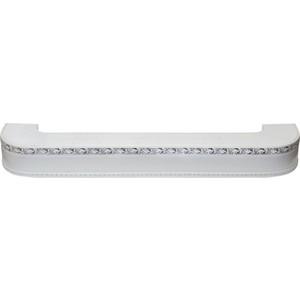 Карниз потолочный пластиковый DDA Поворот Гранд двухрядный белый хром 3.2 карниз потолочный пластиковый dda поворот гранд двухрядный белый хром 2 0