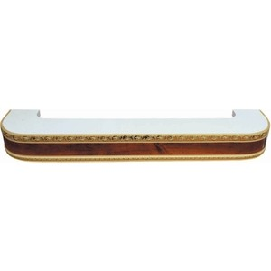 Карниз потолочный пластиковый DDA Поворот Гранд двухрядный орех 1.6