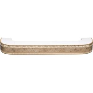Карниз потолочный пластиковый DDA Поворот Гранд трехрядный бронза 3.2 карниз потолочный пластиковый dda прямой гранд трехрядный бронза 2 4