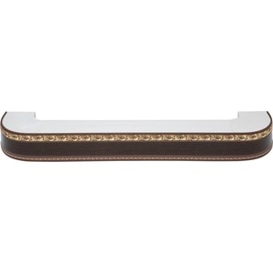 Карниз потолочный пластиковый DDA Поворот Гранд трехрядный венге 3.4 карниз потолочный пластиковый dda поворот гранд трехрядный серебро 2 4