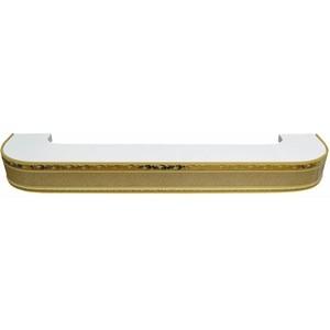 Карниз потолочный пластиковый DDA Поворот Гранд трехрядный песок 1.6