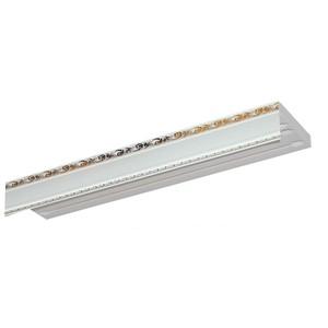 Карниз потолочный пластиковый DDA Прямой Гранд двухрядный белый 2.6
