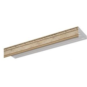 Карниз потолочный пластиковый DDA Прямой Гранд двухрядный бронза 2.8