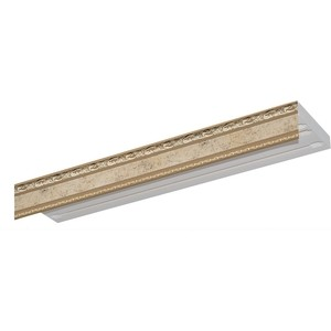 Карниз потолочный пластиковый DDA Прямой Гранд трехрядный бронза 2.6 карниз потолочный пластиковый dda прямой гранд трехрядный бронза 2 4