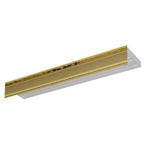 Карниз потолочный пластиковый DDA Прямой Гранд трехрядный песок 2.8