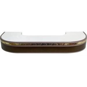 Карниз потолочный пластиковый DDA Поворот Валенсия трехрядный венге 2.4