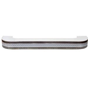 Карниз потолочный пластиковый DDA Поворот Акант двухрядный серебро 3.8