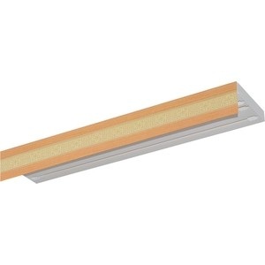 Карниз потолочный пластиковый DDA Прямой Акант двухрядный бук 3.8