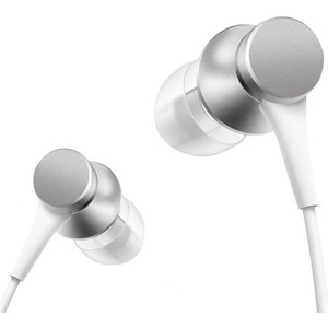 Наушники с микрофоном Xiaomi Mi In-Ear Headphones Basic silver mi in ear headphones basic